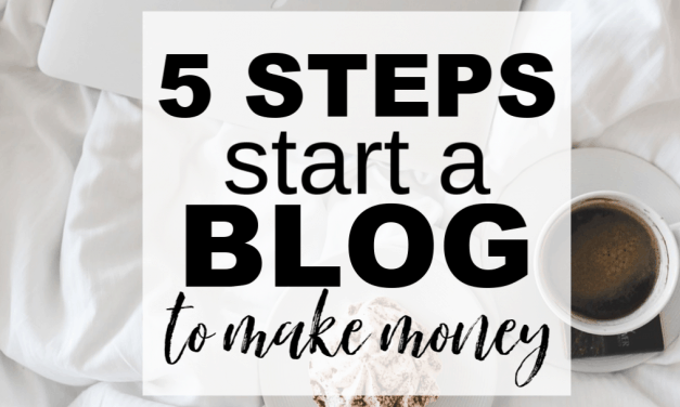 Start a Blog to Make Money | 5 Easy Steps