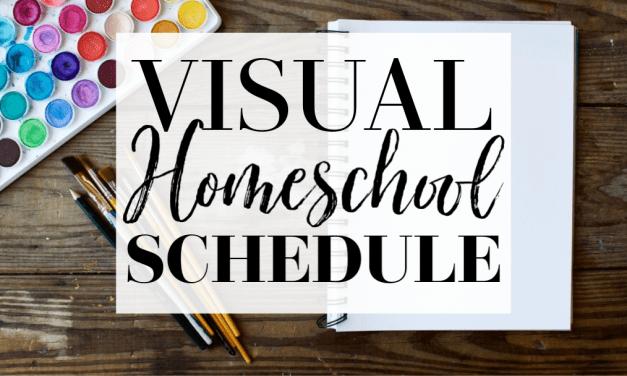 Visual Homeschool Schedule | Plus FREE Printable