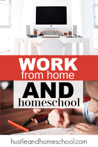 Work from home and homeschool. Advice for work from home moms who are also homeschooling.