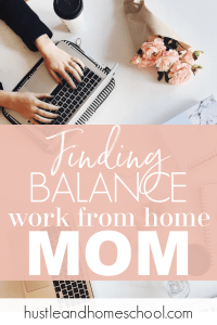 Being a work at home mom is often a juggling act. These tips definitely helped me be more productive and find work life balance.