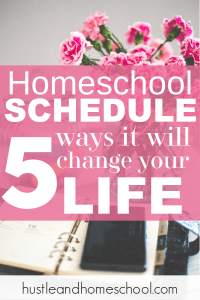 I never thought we needed a homeschool schedule, but once we gave it a try, it was life changing! You seriously need to check out these 5 ways a homeschool schedule will change your life.