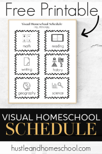 This free printable visual homeschool schedule is so great! I couldn't believe how much it transformed our homeschool days. It is life changing!