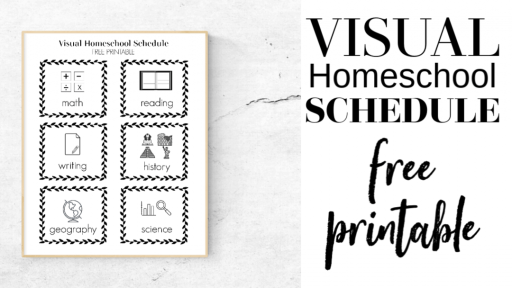 Free Printable Visual Homeschool Schedule