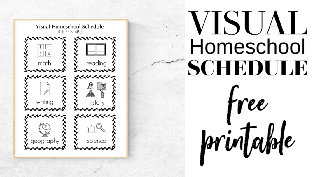 Visual Homeschool Schedule free printable