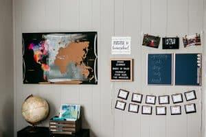 homeschool command center, homeschool room