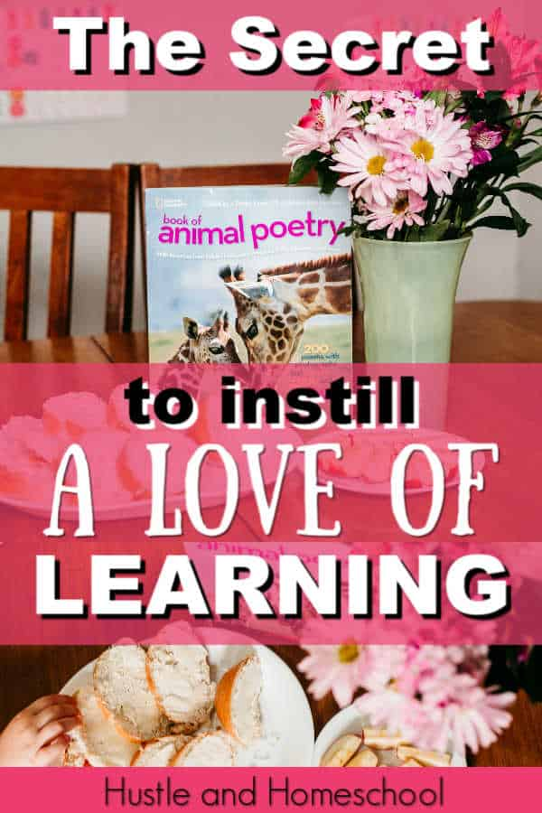 The secret to instilling a love of learning in your homeschool kids. secular homeschool   homeschool curriculum review   brave writer lifestyle   poetry teatime