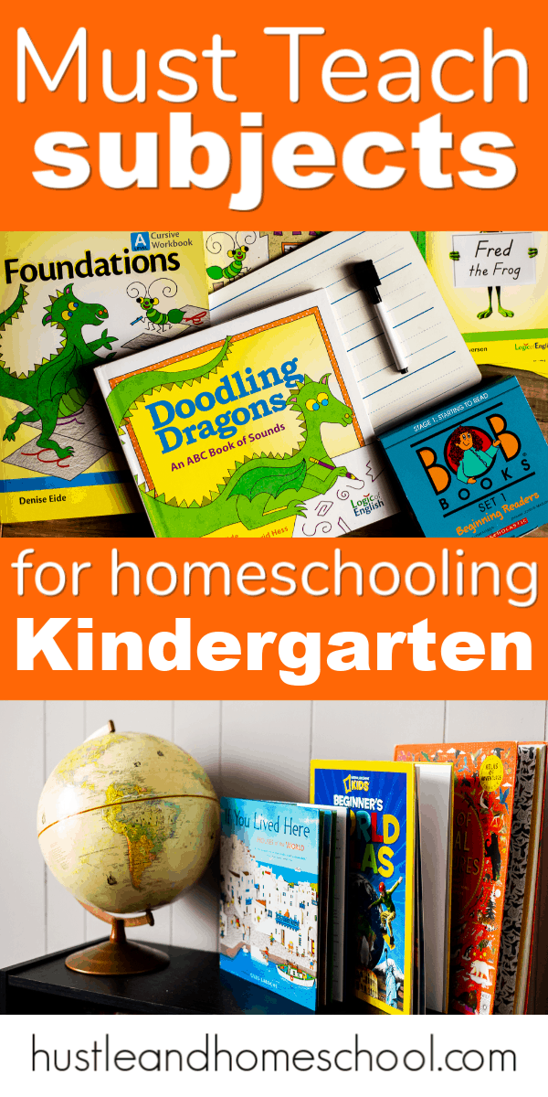 These are the must teach subjects for homeschooling kindergarten. Plus secular homeschool curriculum recommendations!