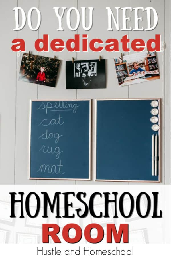 Do you need a dedicated homeschool room? How to set up your home for homeschooling. Homeschool supplies. Homeschool organization. Small space homeschooling. Small house homeschool.