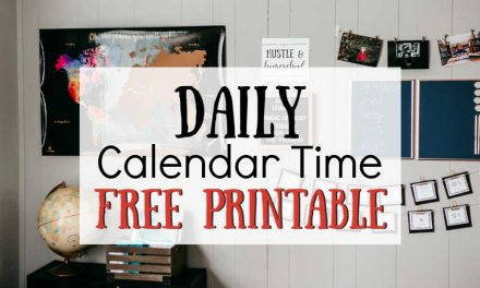 Daily Calendar Time | FREE Printable