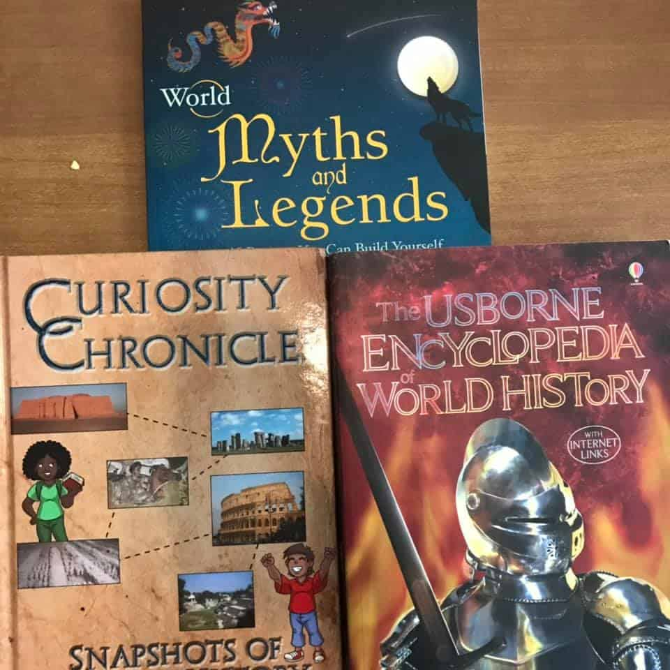 First Grade history & mythology books