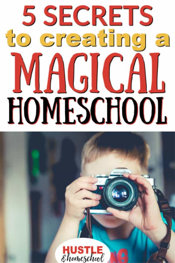 5 Secrets to creating a Magical Homeschool, boy holding film camera