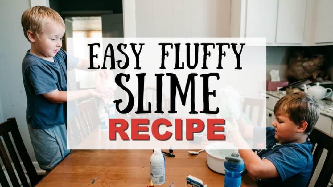 Easy Fluffy Slime Recipe