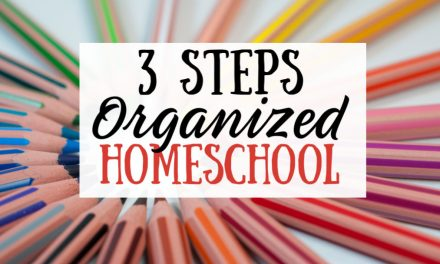 3 Steps to an Organized Homeschool