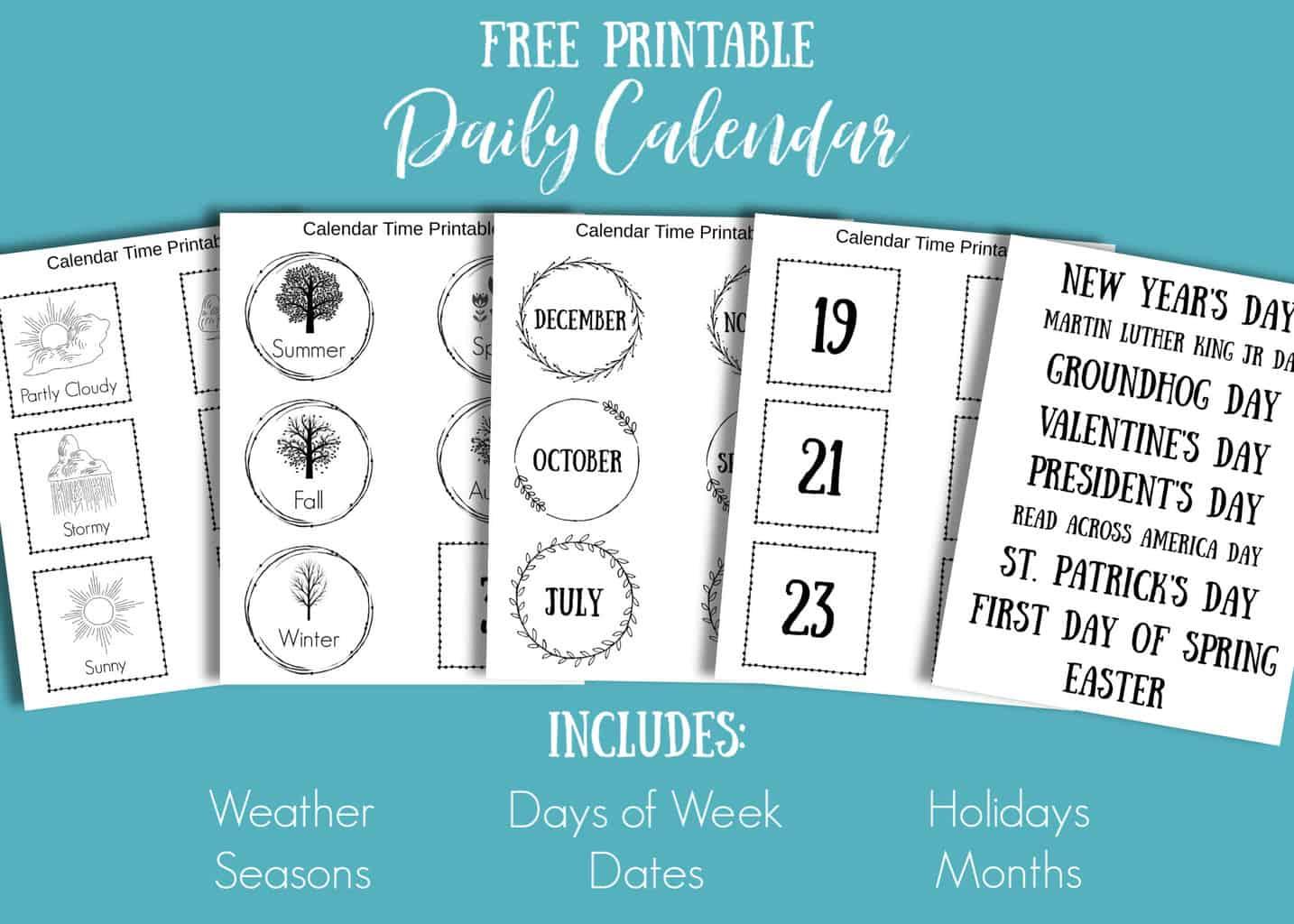 Free Printable Daily Calendar