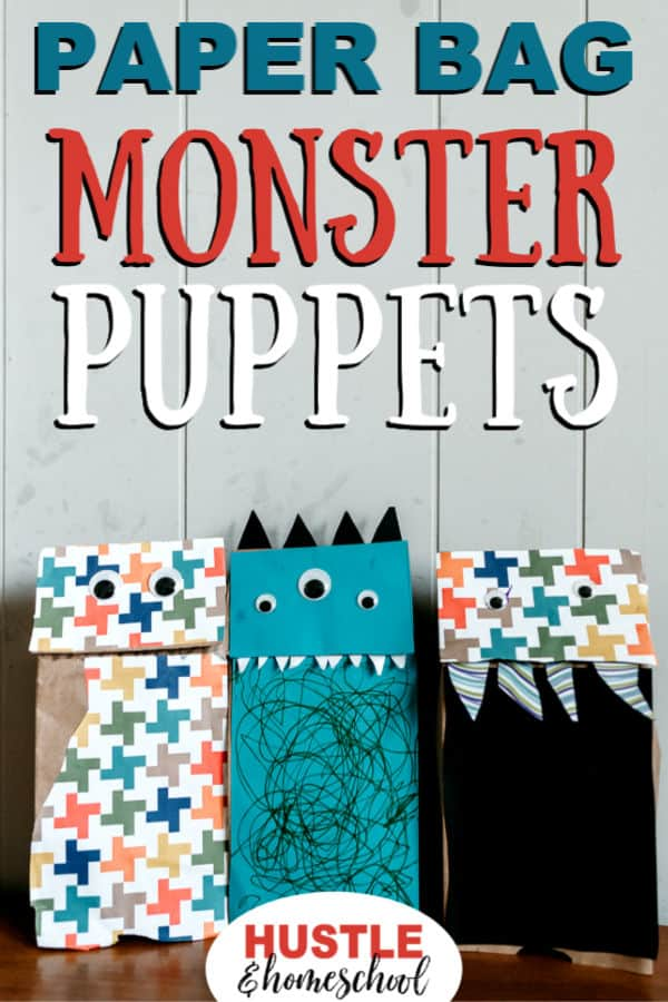 3 Paper Bag Monster Puppets