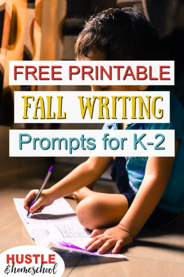 Free Printable Fall Writing Prompts for K-2 Homeschoolers