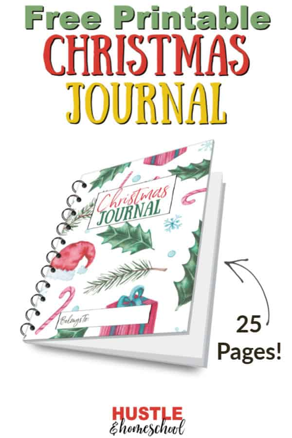 A free printable 25 page Christmas Journal for families.