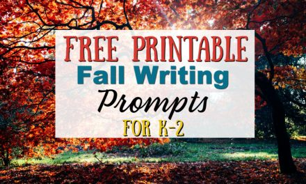 Fall Writing Prompts for K-2 | Free Printable