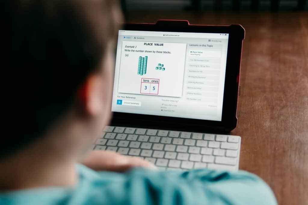 CTCMath homeschool lesson on an iPad