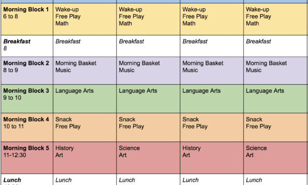 Editable Homeschool Schedule | Free Printable