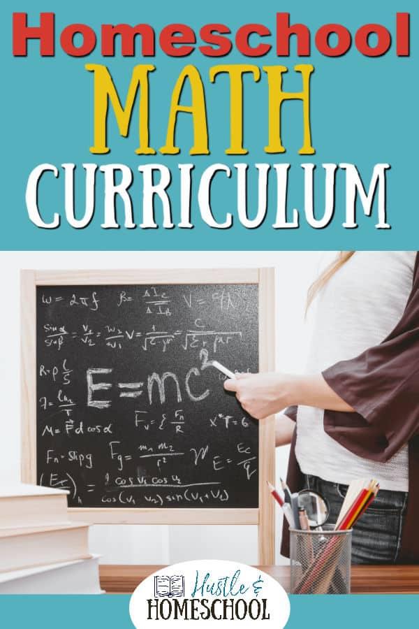 Woman teaching math curriculum