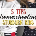 Tips for Homeschooling Stubborn Kids