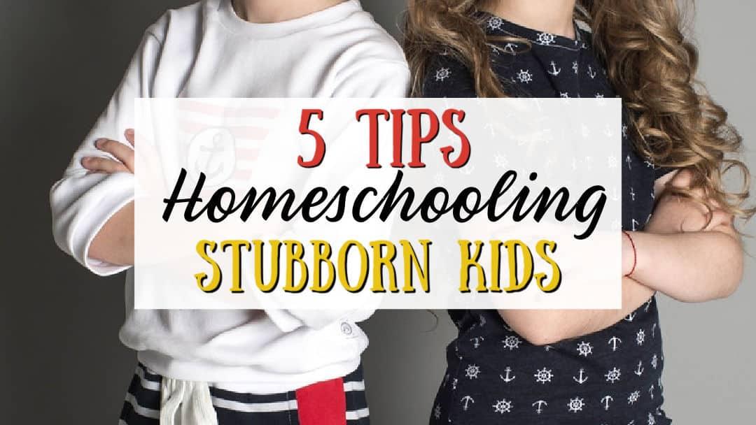 Tips for Homeschooling Stubborn Kids