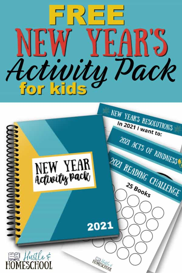 Free New Year Activity Pack notebook and papers