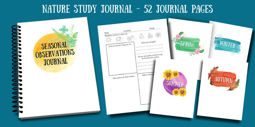 nature study journal and pages
